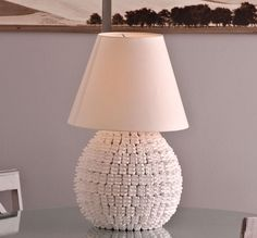lampada fai da te, abat-jour fai da te, lampada polistirolo, lampada creativa, lampada design