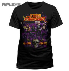 Official T Shirt STEEL PANTHER Metal AYCE All You Can Eat All Sizes