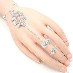 Crystal Flower Hand Chain Bracelet / Slave Bracelet / AZBLSB008-SCL Arras Creations http://www.amazon.com/dp/B00VKU2QOC/ref=cm_sw_r_pi_dp_lgimvb1WBFWBR