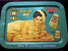 Vintage India Tin Tray - Hema Malini -Bollywood Actress