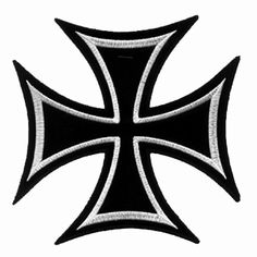 Iron Cross Patch Black & White Iron On Applique Cross Of Iron, Sign Of The Cross, Shiva Tattoo Design, Skull Stencil, Motorcycle Paint Jobs, Clover Tattoos, Totenkopf Tattoos, Blood Art, Crochet Slippers