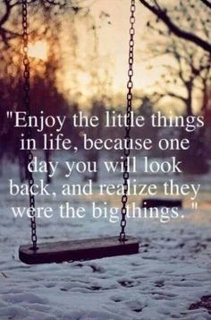 Little things will be the big things