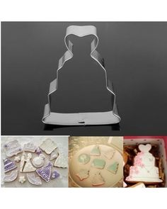 Wedding Dress Cookie Cutter Fondant Cake Biscuit Mold