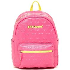 5b8788c363 Betsey Johnson Be a Good Sport Embossed Bow Backpack ( 60) ❤ liked on  Polyvore