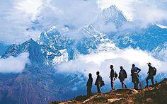 Nepal trek. We traveled from Kathmandu to the lake city of Pokhara in the Annapurna Region in northwestern Nepal to begin a trek in the Himalayas.
