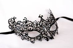 Black masquerade mask - Laser cut metal masquerade black lace mask, masquerade prom mask fit fot bachelorette parties and new years parties – Black masquerade mask Mascarade Mask, Black Masquerade Mask, Masquerade Prom, Natural Cosmetics, Makeup Cosmetics, Makeup At Home, Lace Mask, Laser Cut Metal, Cosmetic Design