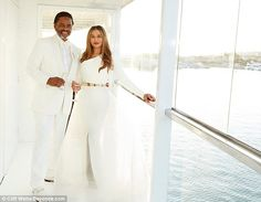 Newlyweds: Beyoncé released a snap of her mother Tina Knowles on Monday, showing her in he...