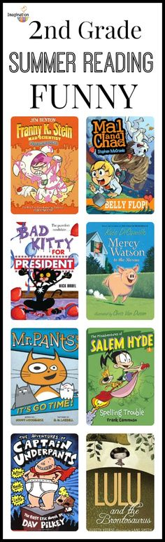 2nd Grade Summer Reading List - look on this post for more books that are fantasy, realistic, and adventure!