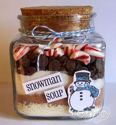 ... Joyful Stamper: Snowman Soup in a Jar!