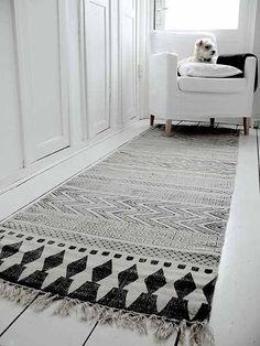 tapis azteque tapis gris tapis graphique amenagement studio deco