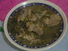 Verdolagas con carne de puerco en salsa verde