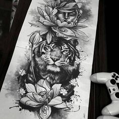 118 Meilleures Images Du Tableau Tatouage Tigre Tattoo Ideas