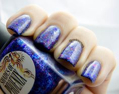 This is indie polish is Pixie snot or Blueberry (depending on which one you got) from Shades of Phoenix over China Glaze Queen B. Aussie Indie Polish