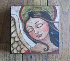 PRAY 6x6 print on wood by Teresa Kogut via Etsy.