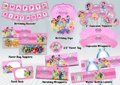 Disney Princess Printable Party Package by DigiPartyShoppe on Etsy