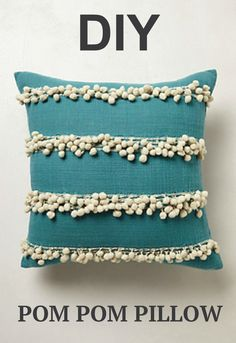 LOVE these fun pom pom pillows!                                                                                                                                                                                 More