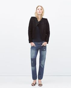CONTRAST POCKET PATCHED BOYFRIEND JEANS