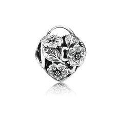 Floral Heart Padlock - 791397 - Charms   PANDORA