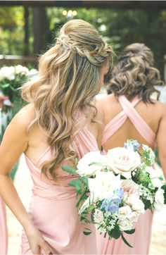 ✔ Hair ideas Long Half Up Half Down Half Up Wedding Hair, Wedding Hairstyles Half Up Half Down, Long Hair Wedding Styles, Wedding Hairstyles For Long Hair, Braided Hairstyles, Long Hair Styles, Braid Half Up Half Down, Braided Half Up, Bridesmaid Hair