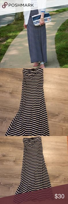 BCBG 🎀 Striped Maxi Skirt! 🎀 Beautiful Maxi Skirt, extremely soft, dainty and really girly! I ship same day! BCBG Skirts Maxi