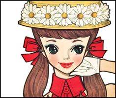 by japanese artist Rune Naito Japanese Illustration, Illustration Art, Painting Collage, Illustrations And Posters, Vintage Illustrations, Japanese Artists, Manga Drawing, Big Eyes, Asian Art