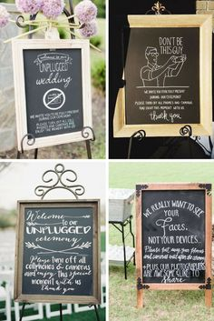 Unplugged Wedding Sign + 5 Ways to Add Creative Personal Touch to Your Wedding Ceremony - City of Creative Dreams