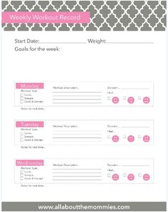 FREE Printable Forms - All About the Mommies