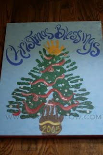 family handprints Christmas tree