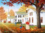 Мобильный LiveInternet Осенний пейзаж John Sloane | Akmaya - Записки Akmaya |