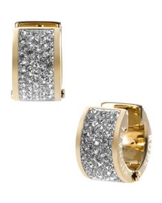 Michael Kors Pave Crystal Hug Earrings, Golden - Neiman Marcus