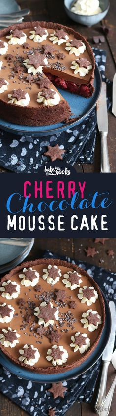 Cherry Chocolate Mousse Cake | Bake to the roots