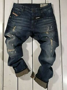 @ New Diesel Mens Jeans Krayver Regular Slim. Denim Man, Blue Denim Jeans, Diesel Jeans, Levi Strauss, Mens Outfitters, Distressed Denim, Slim, Mens Fashion, God