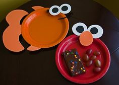 DIY Elmo and Dorthy plates