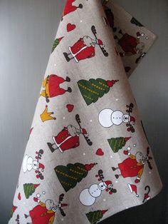 Linen Cotton Dish Towels Tea Towels Rudolf by Coloredworld on Etsy, $17.90