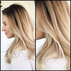 Blended blonde balayage Ombre