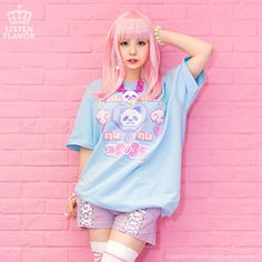 J-Fashion / Tops / LISTEN FLAVOR Creator's Collaboration Big T-Shirt Sweet Style, My Style, Tokyo Otaku Mode, Mode Shop, Kawaii Fashion, Collaboration, The Creator, Dress Up, T Shirts For Women