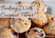 How to bake with 100% coconut flour! #gluten-free #gf