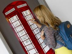 WallPops, Modern Wall Decals from Brewster Home Fashions - London Phone Booth Modern Wall Decals, Removable Wall Decals, London Phone Booth, Photo Wrap, Pvc Wall, Corner Wall, Gifts For Teens, Teen Gifts, Sticker Shop
