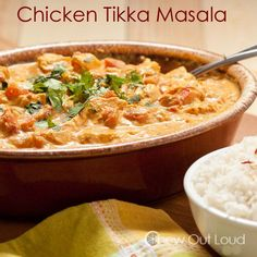 Chicken Tikka Masala **Jayci tested - one of our new favorites!! I was heavy on the spices & baby still enjoyed! Really only have to buy chicken, cream, cilantro, onion, tomato paste, & crushed tomatoes