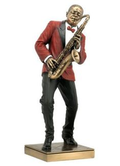 Saxophone player statue jazz