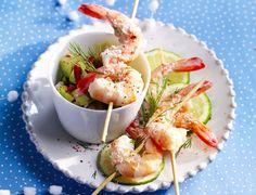 Crevettes au punch coco-gingembre Voir la recette des Crevettes au punch coco-gingembre