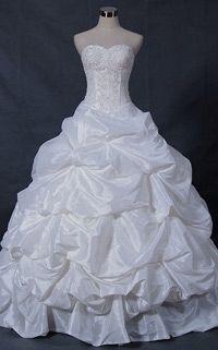 Ball gown Taffeta Sweetheart Cathedral Train Sleeveless wedding dress P8877 -