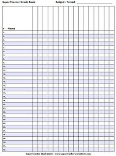 Check out our printable gradebook pages!