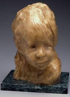 Medardo Rosso, Jewish Child, 1893, wax over plaster, The Evan H. Roberts Memorial Sculpture Collection.