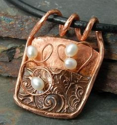 Copper clay and Pearls by ?