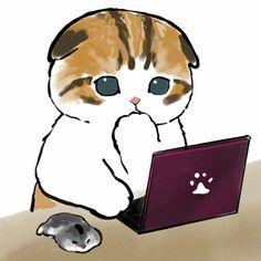 Kitten Drawing, Cute Cat Drawing, Cute Cartoon Drawings, Cartoon Art Styles, Animal Drawings, Cute Little Kittens, Kittens Cutest, Cats And Kittens, Cute Cats