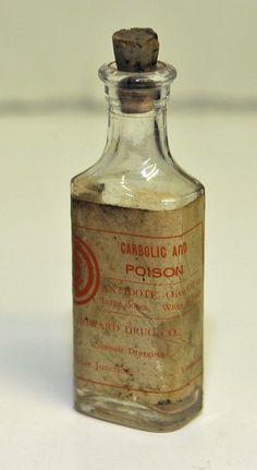 Antique 1800s VERMONT POISON BOTTLE Rare All by SeaGlassPrimitives, $28.00