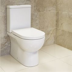 Arlo Ceramic to Wall Close Coupled Toilet with Soft Close Seat (Quick Release)