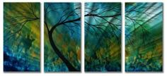 Shop for Megan Duncanson 'Spring Movement' Metal Wall Art. Get free delivery On EVERYTHING* Overstock - Your Online Art Gallery Shop! Metal Tree Wall Art, Metal Wall Sculpture, Tree Sculpture, Metal Artwork, Wall Sculptures, Metal Plaque, Tear, Wall Art Sets, Metallic Paint