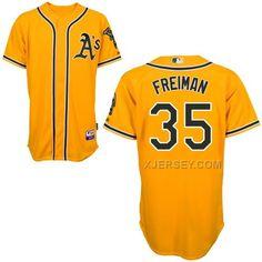 http://www.xjersey.com/athletics-35-freiman-yellow-cool-base-jerseys.html Only$43.00 ATHLETICS 35 FREIMAN YELLOW COOL BASE JERSEYS #Free #Shipping!
